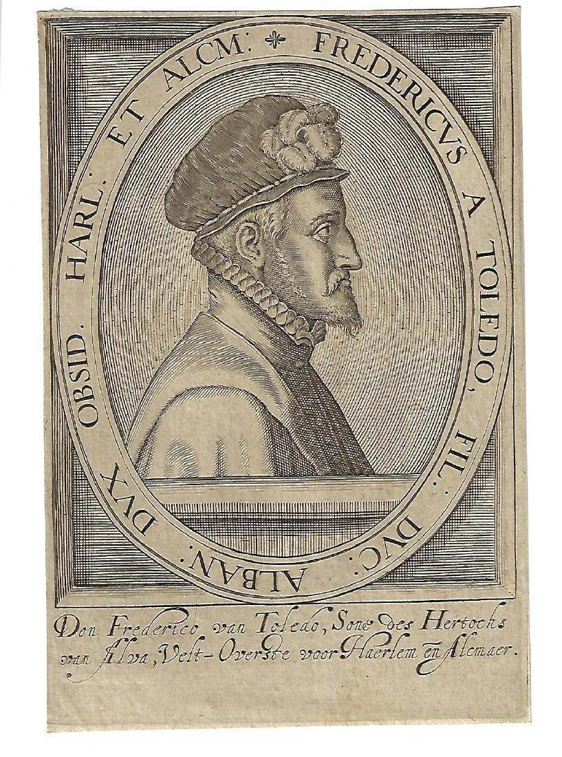 17th C Engraving Don Frederico Toledo