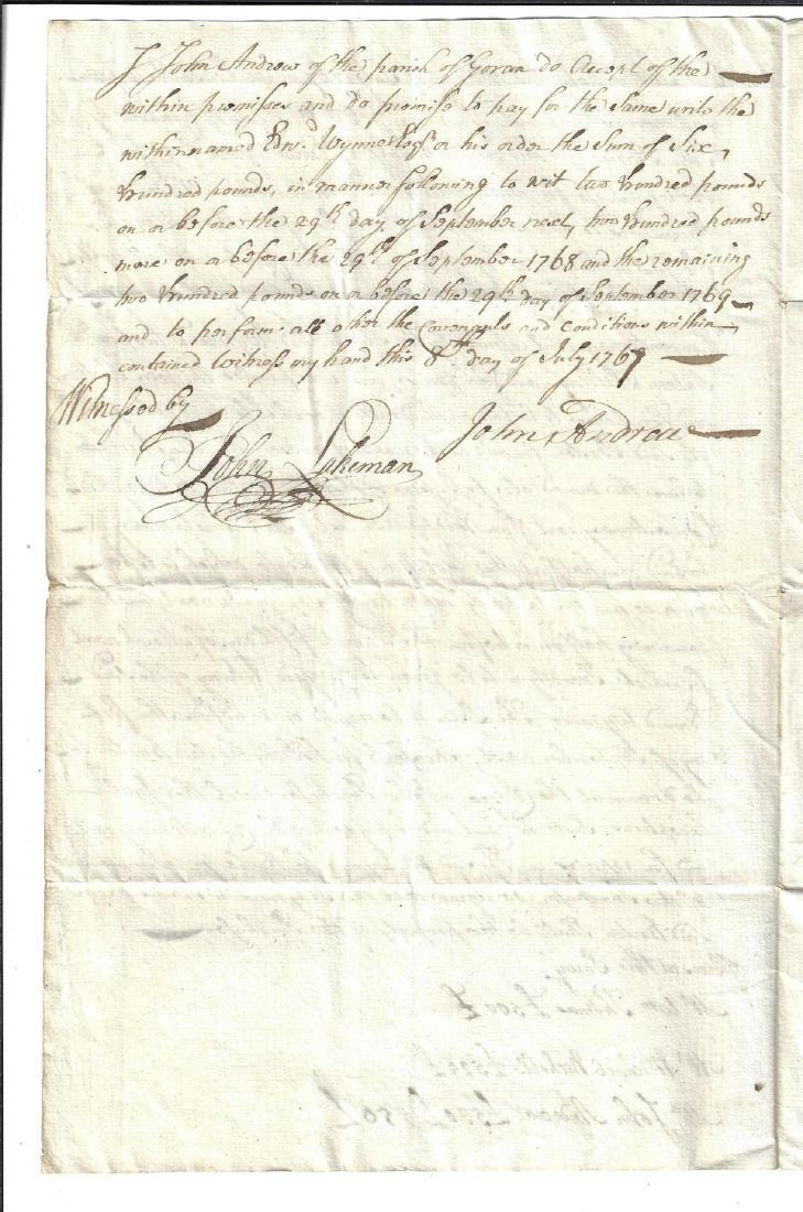 1767 English Manuscript Estate Survey - 2