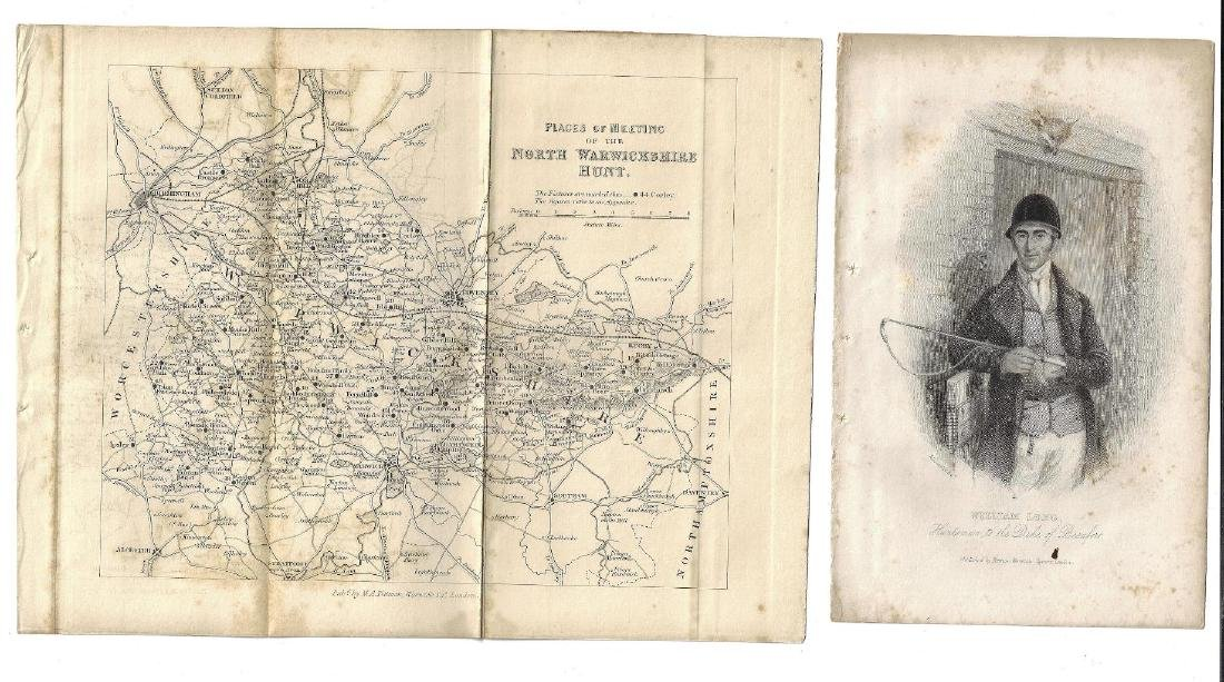 c1820 Engravings of Horse Racing and Hunt Map