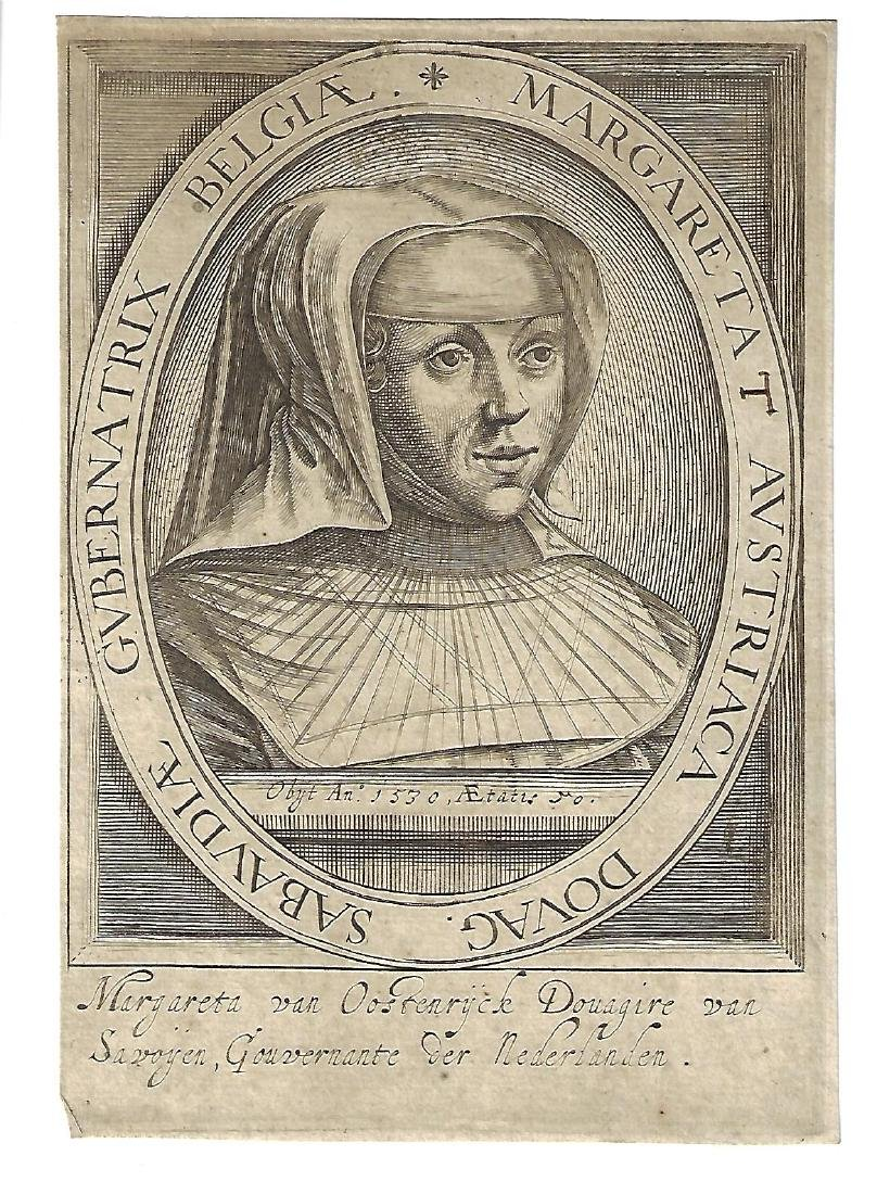 17th C Engraving Margareta van Ostenryck