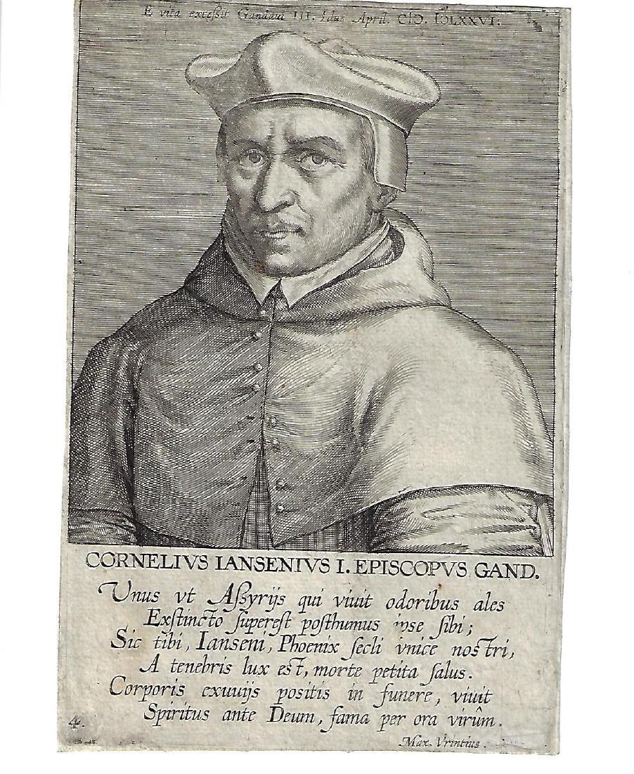 17th C Engraving Cornelius Jansenius