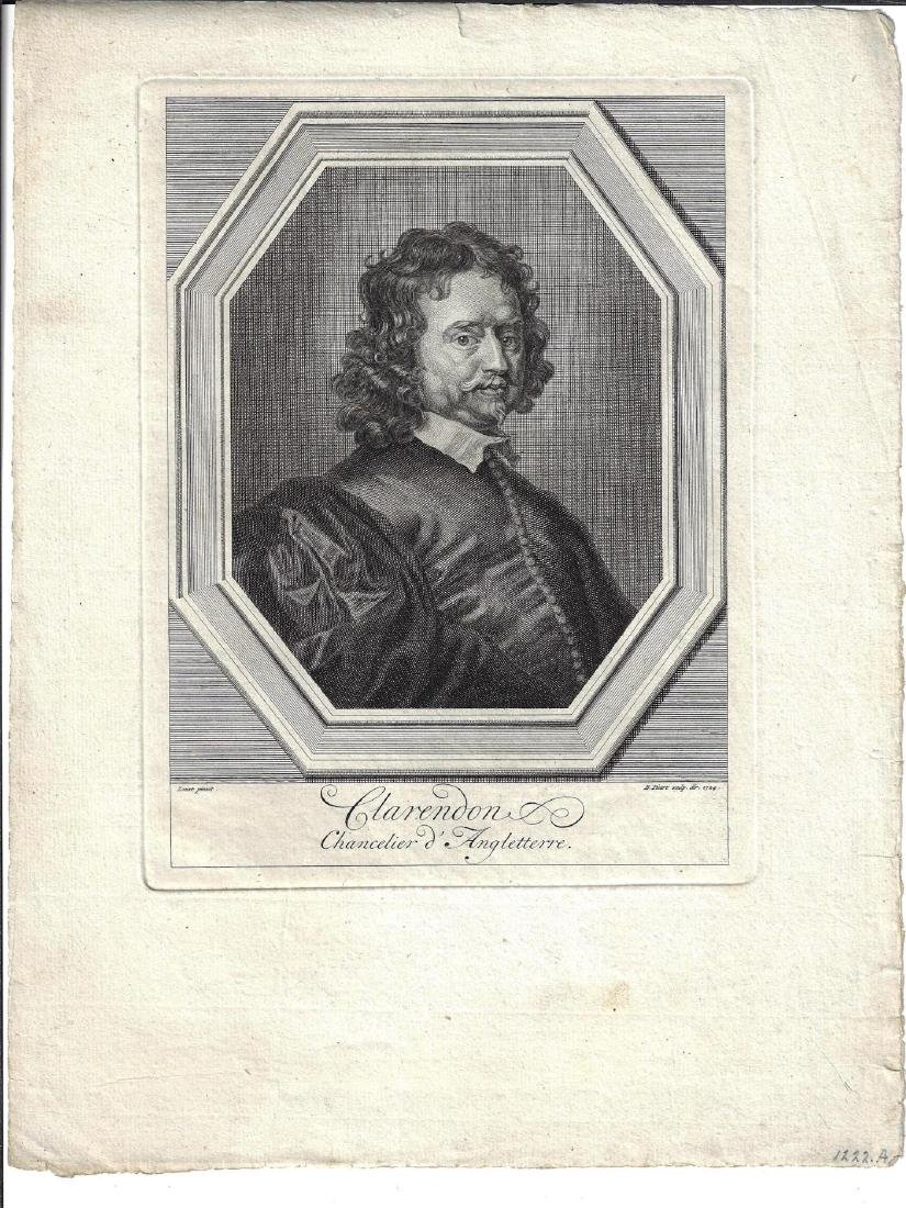 18th C Engraving Earl of Clarendon