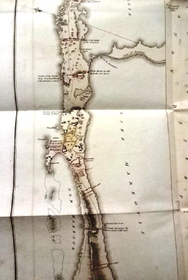 1802 Large Folding Plan British Operations Egypt - 3