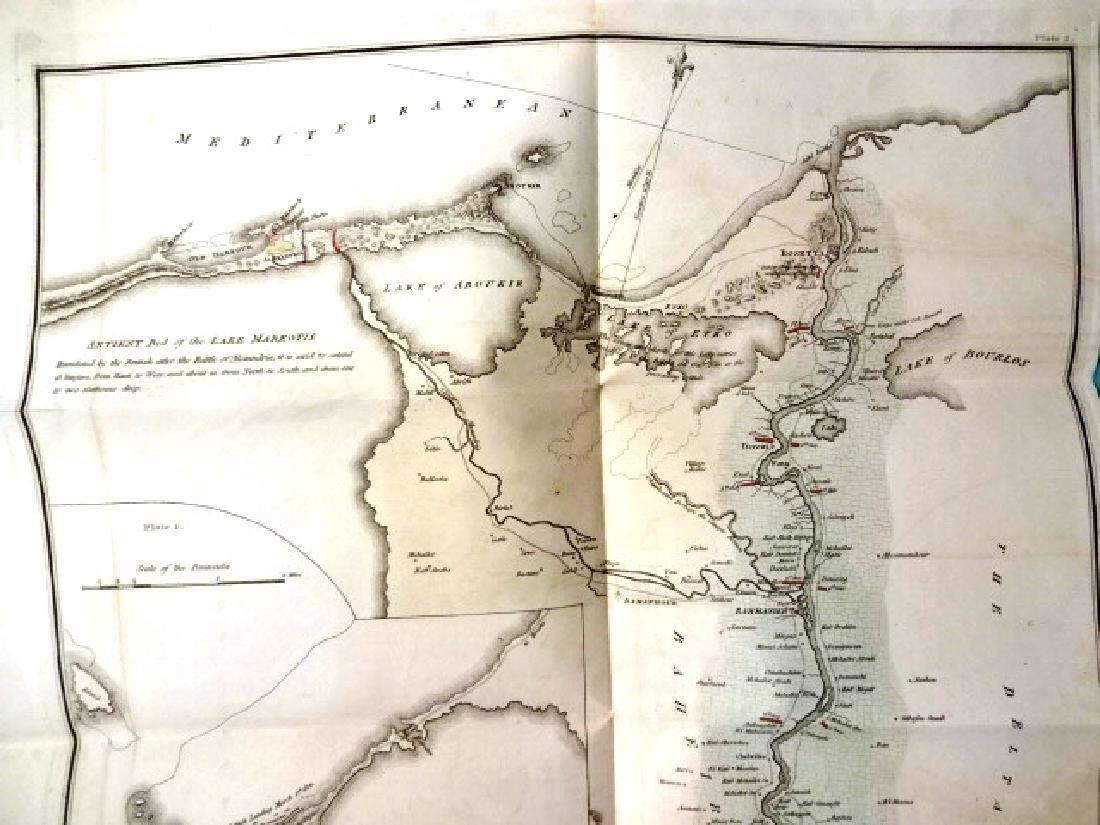 1802 Large Folding Plan British Operations Egypt - 4