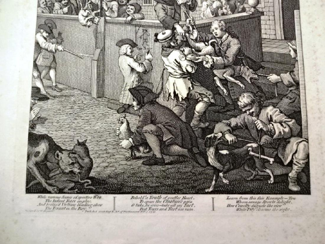 c1810 Engraving First Stage of Cruelty Hogarth - 2