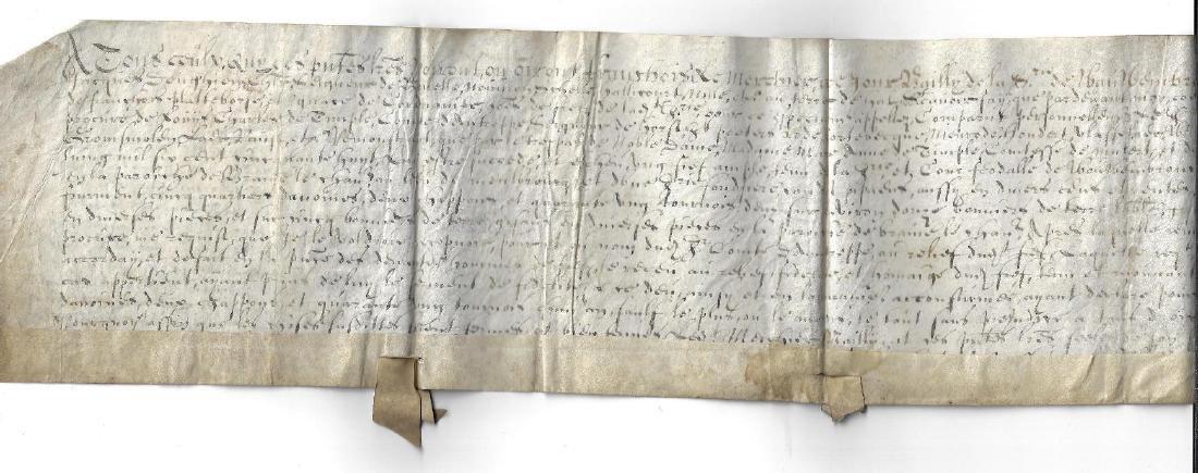 1659 Vellum French Manuscript Fief Brabant