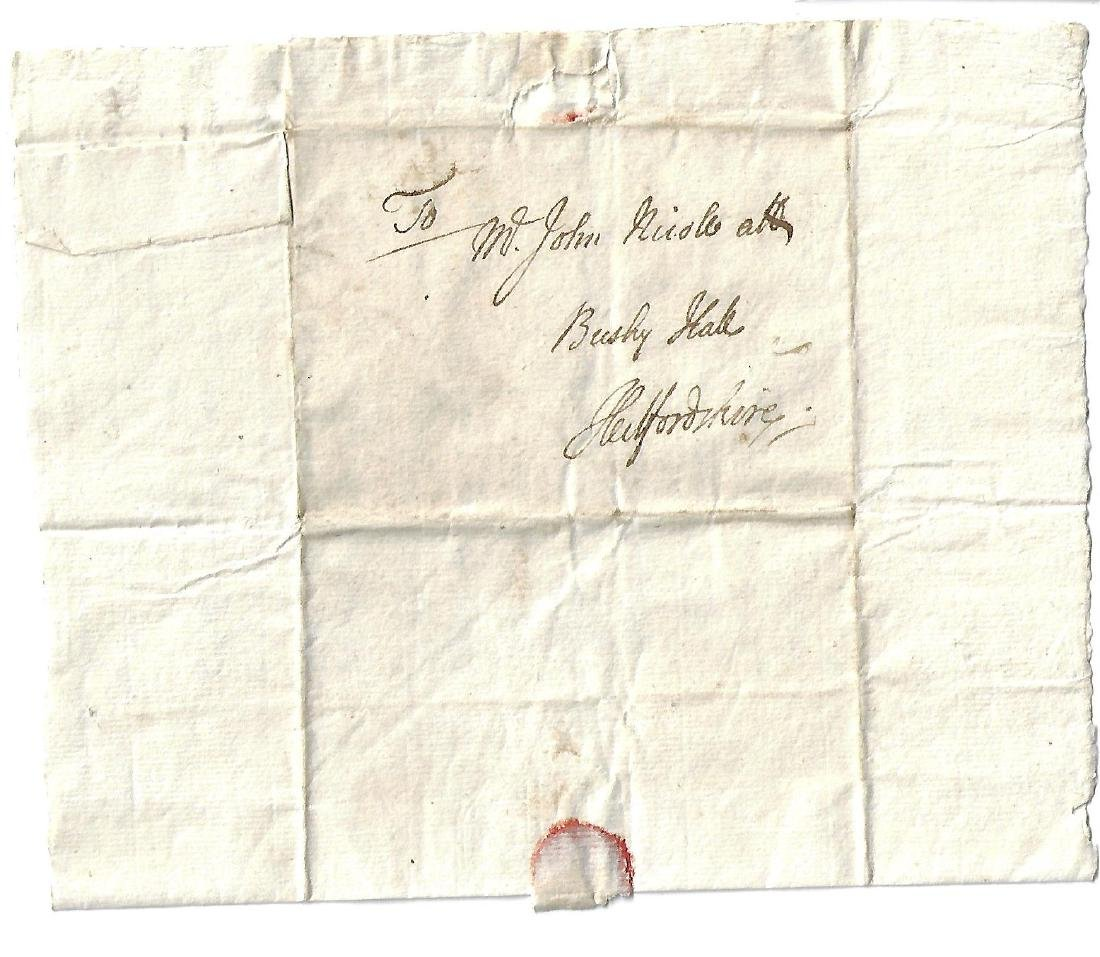 17th C Folded English Letter John Mariott - 2