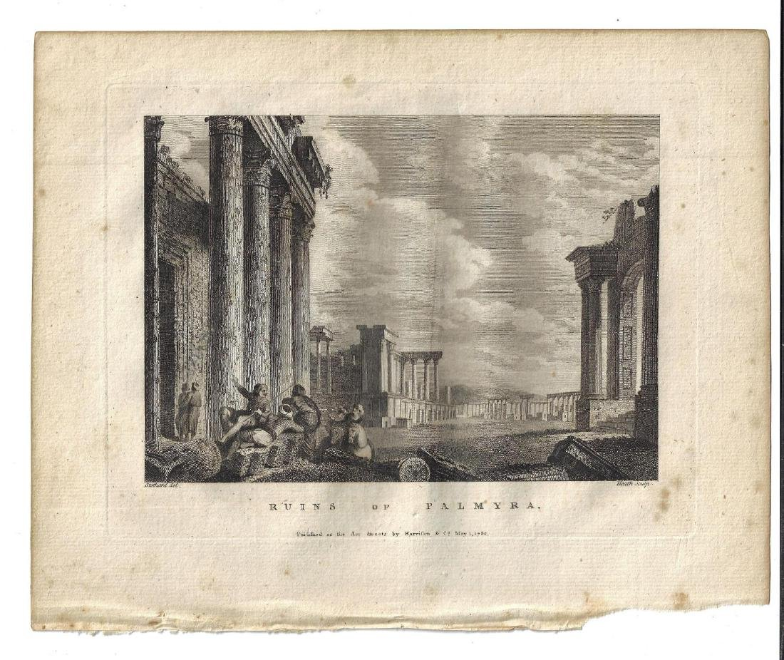 1782 Engraving Ruins of Palmyra