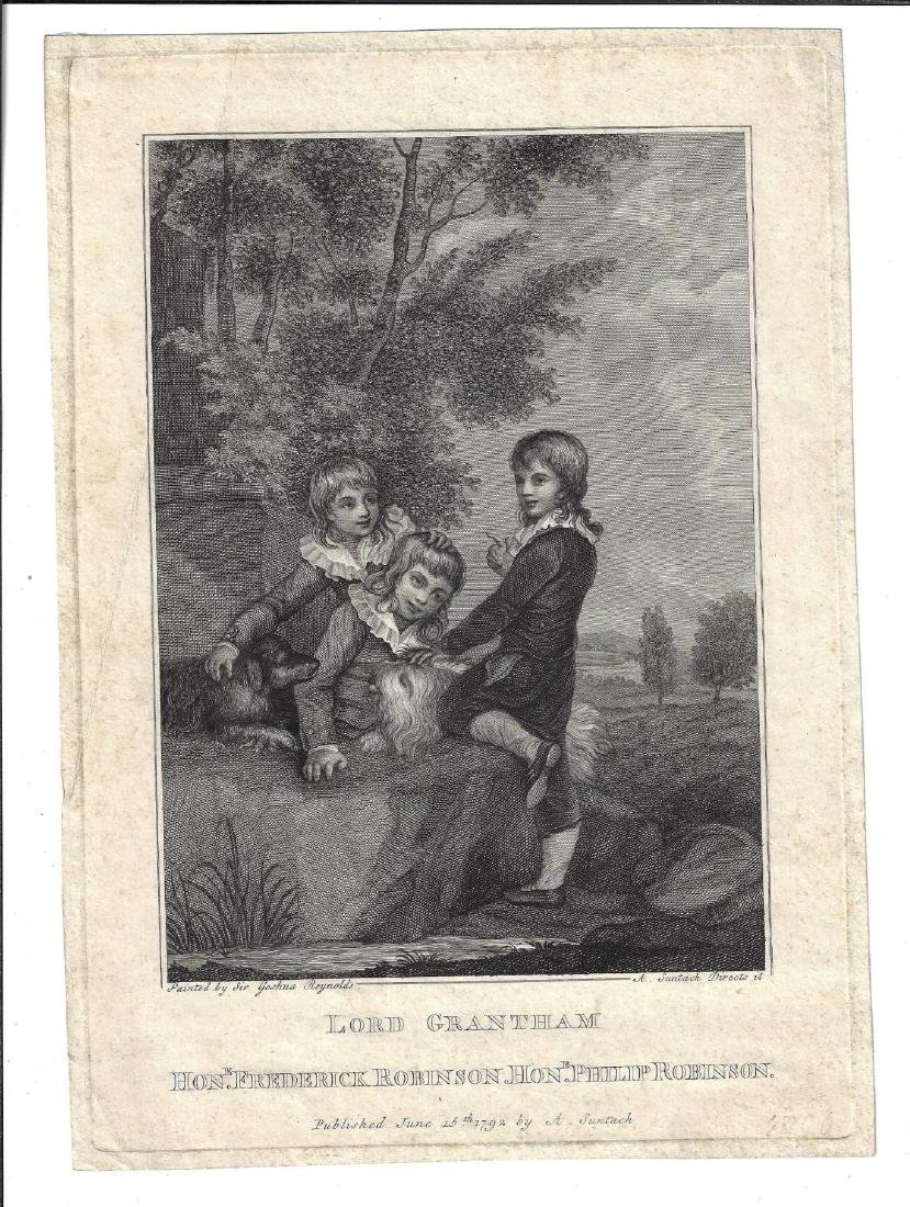 1792 Engraving Lord Grantham after Reynolds