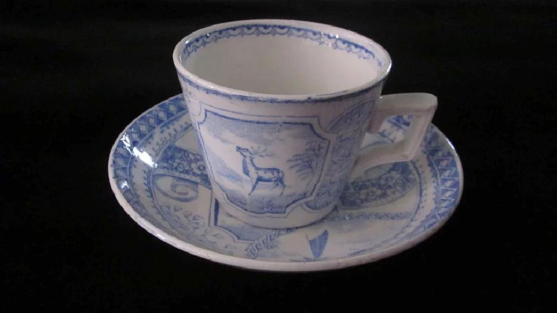 Victorian Stag 750 Child's Tea Set, Blue and White - 7