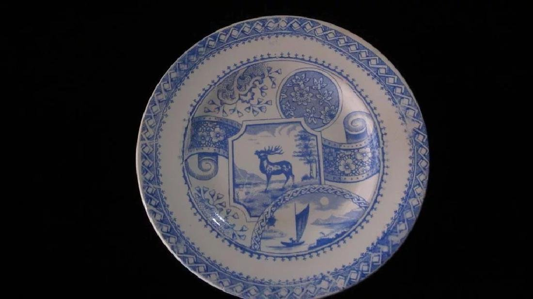 Victorian Stag 750 Child's Tea Set, Blue and White - 8