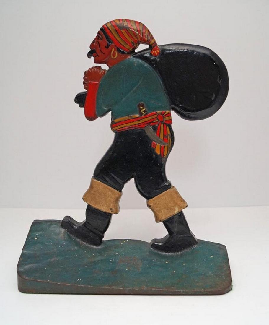 Antique Pirate w/ Pack Cast Iron Doorstop