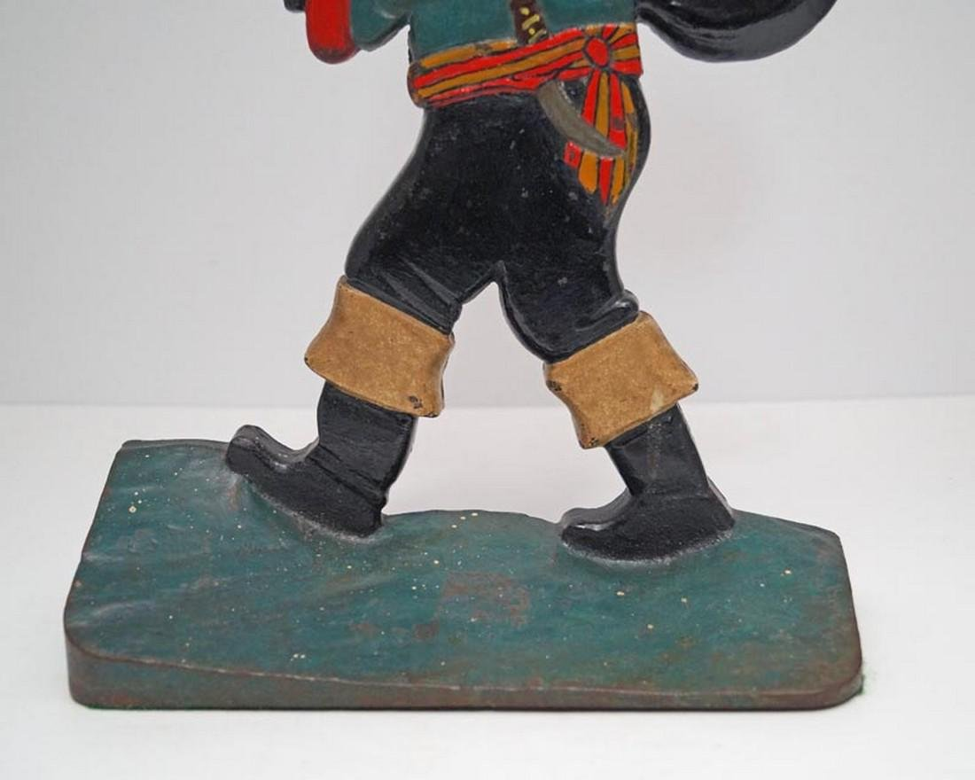 Antique Pirate w/ Pack Cast Iron Doorstop - 3