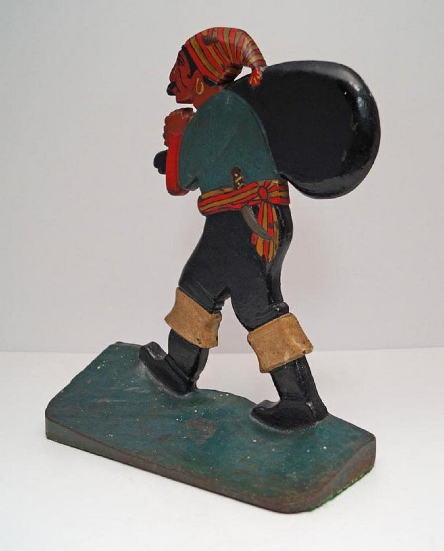 Antique Pirate w/ Pack Cast Iron Doorstop - 5