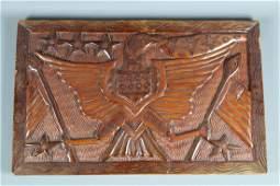 American Eagle Wood Plaque
