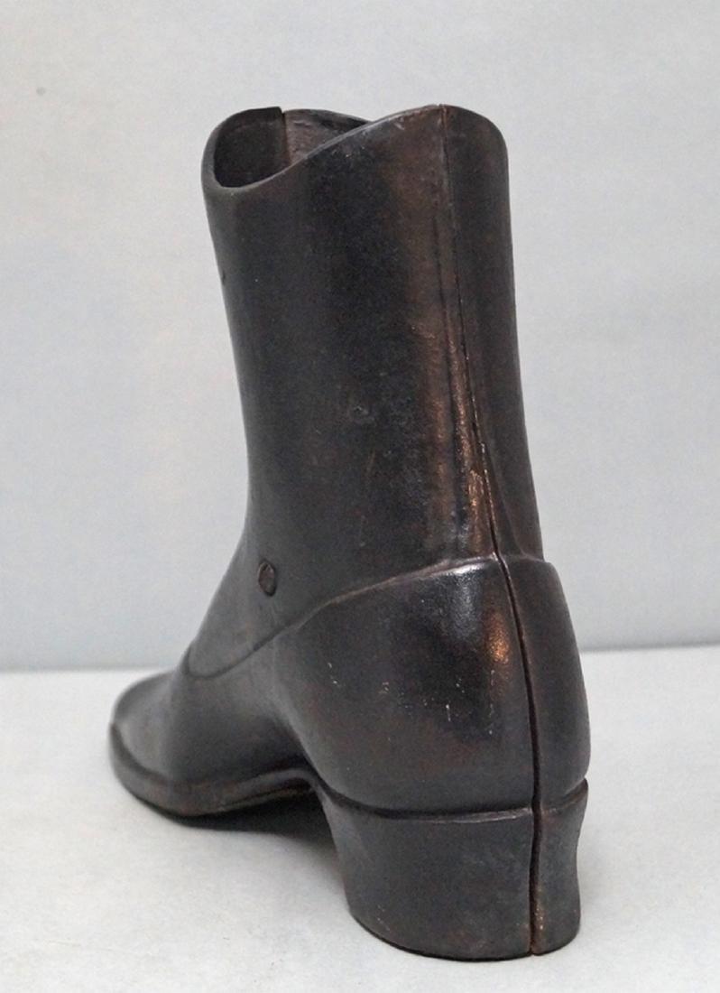 Antique High Top Button Shoe Cast Iron Doorstop - 4