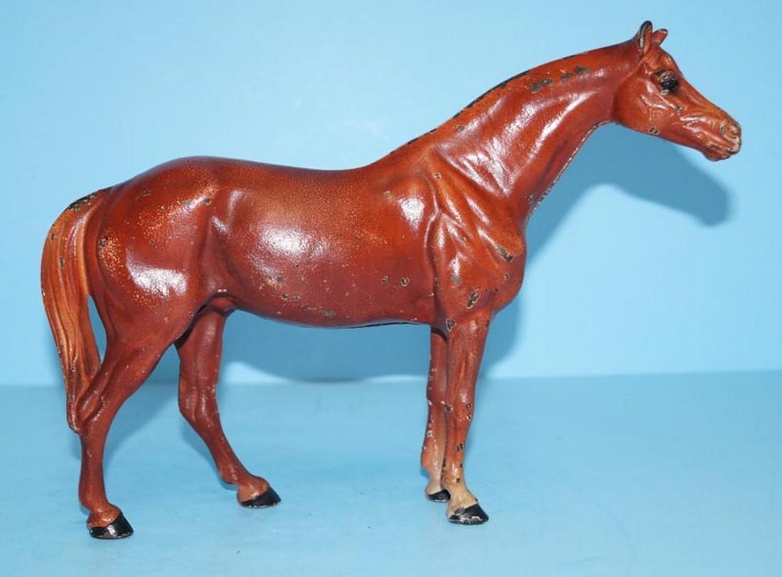 Antique Horse Cast Iron Hubley Doorstop - 3