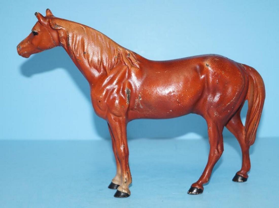 Antique Horse Cast Iron Hubley Doorstop - 4