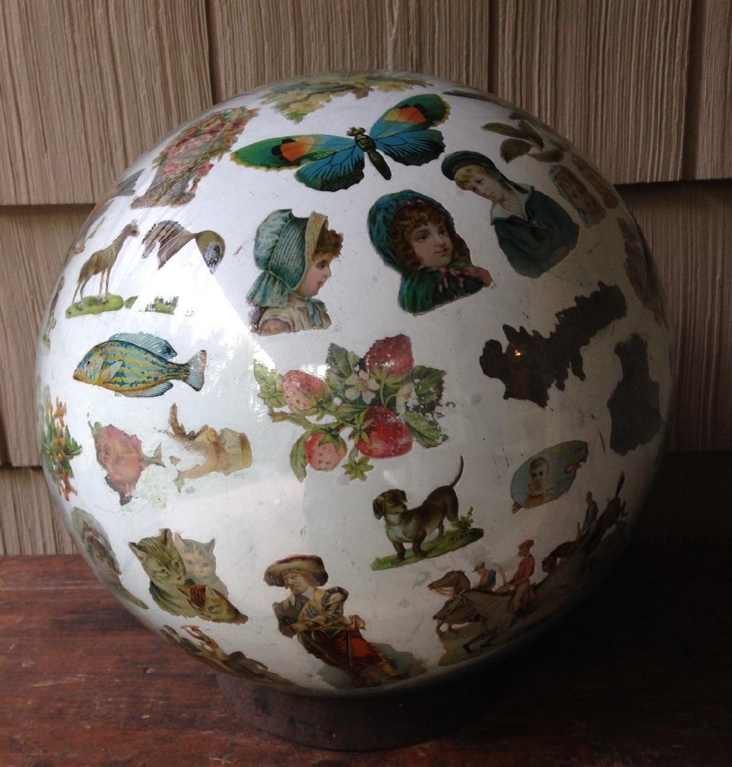 Decorated Blown Glass Globe
