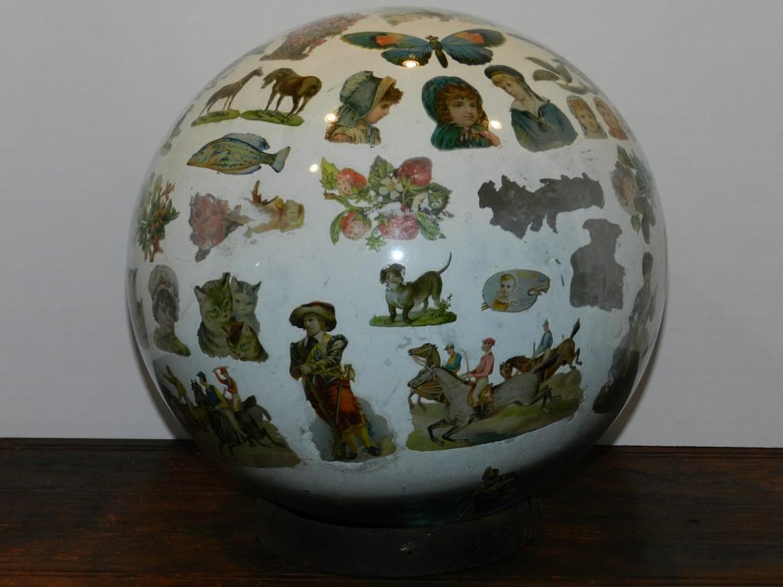 Decorated Blown Glass Globe - 3