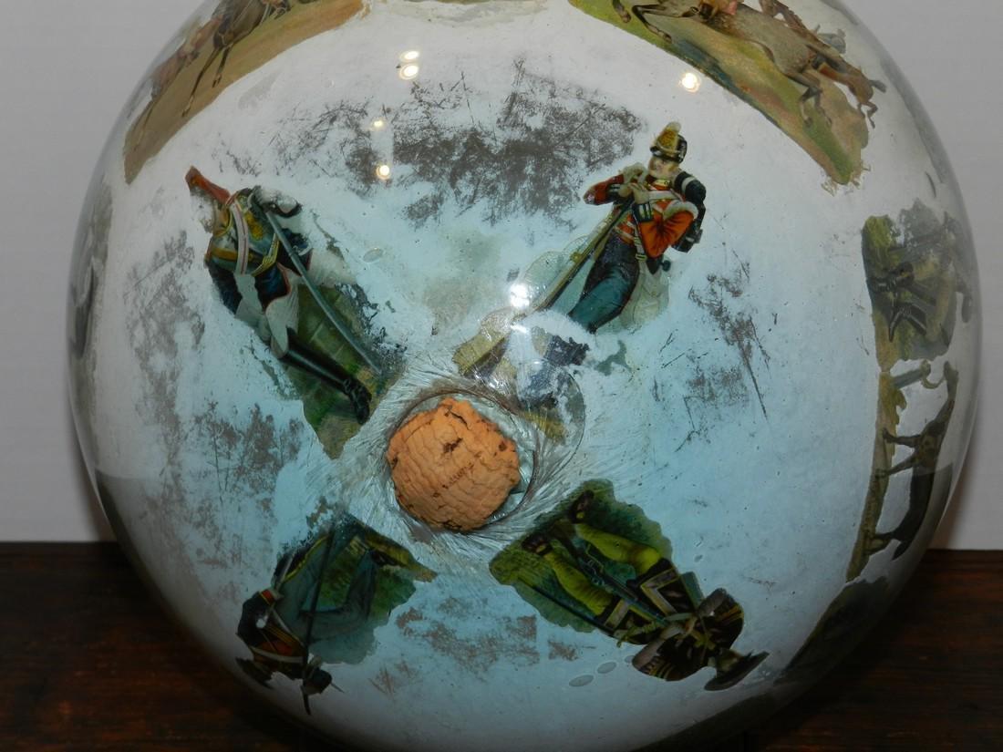 Decorated Blown Glass Globe - 4