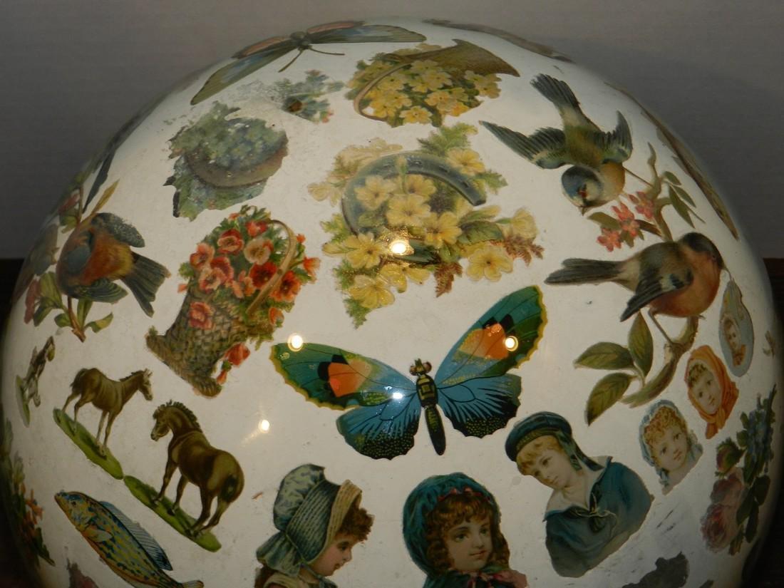 Decorated Blown Glass Globe - 5