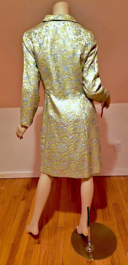 Vtg 1950 Floral Brocade dress coat and dress ensemble - 5