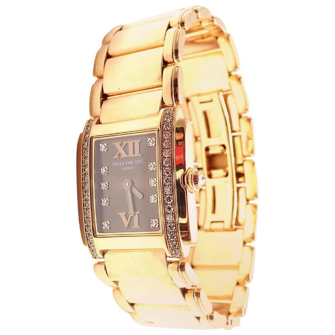 Patek Philippe Ladies Rose Gold Diamond Twenty 4 Quartz