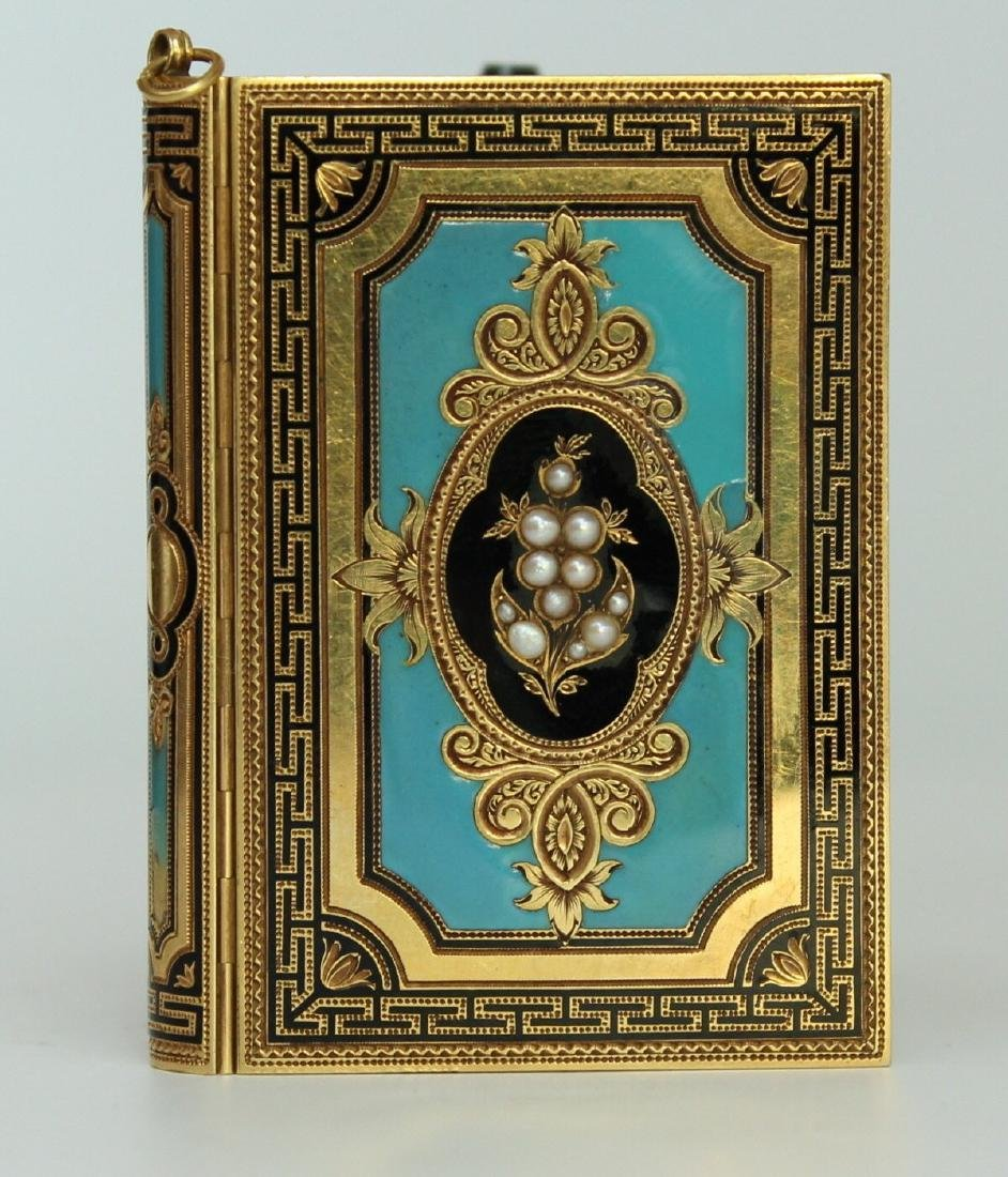 A French Gold and Enamel Carne