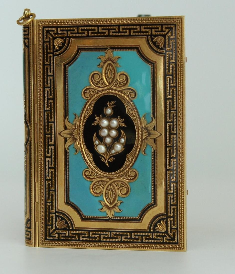 A French Gold and Enamel Carne - 3