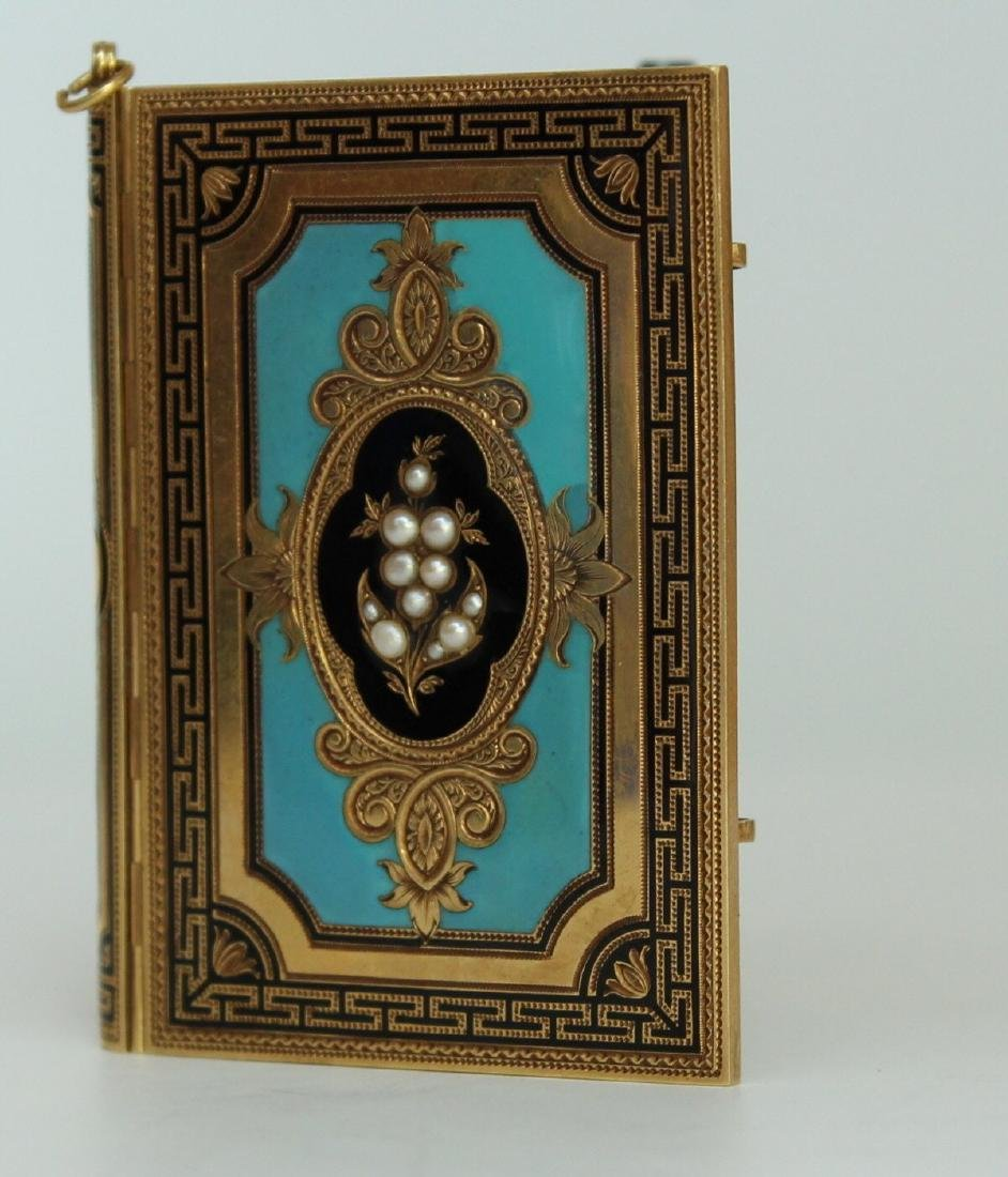 A French Gold and Enamel Carne - 4