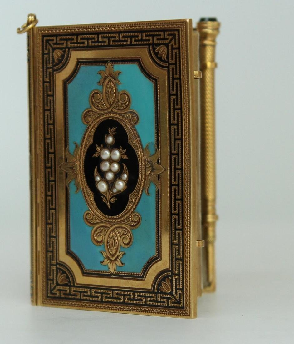 A French Gold and Enamel Carne - 5