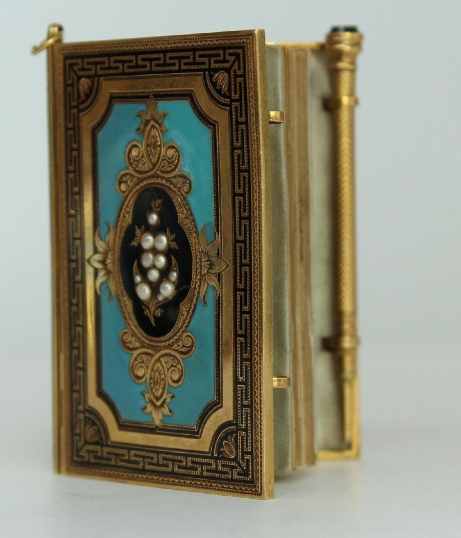 A French Gold and Enamel Carne - 6