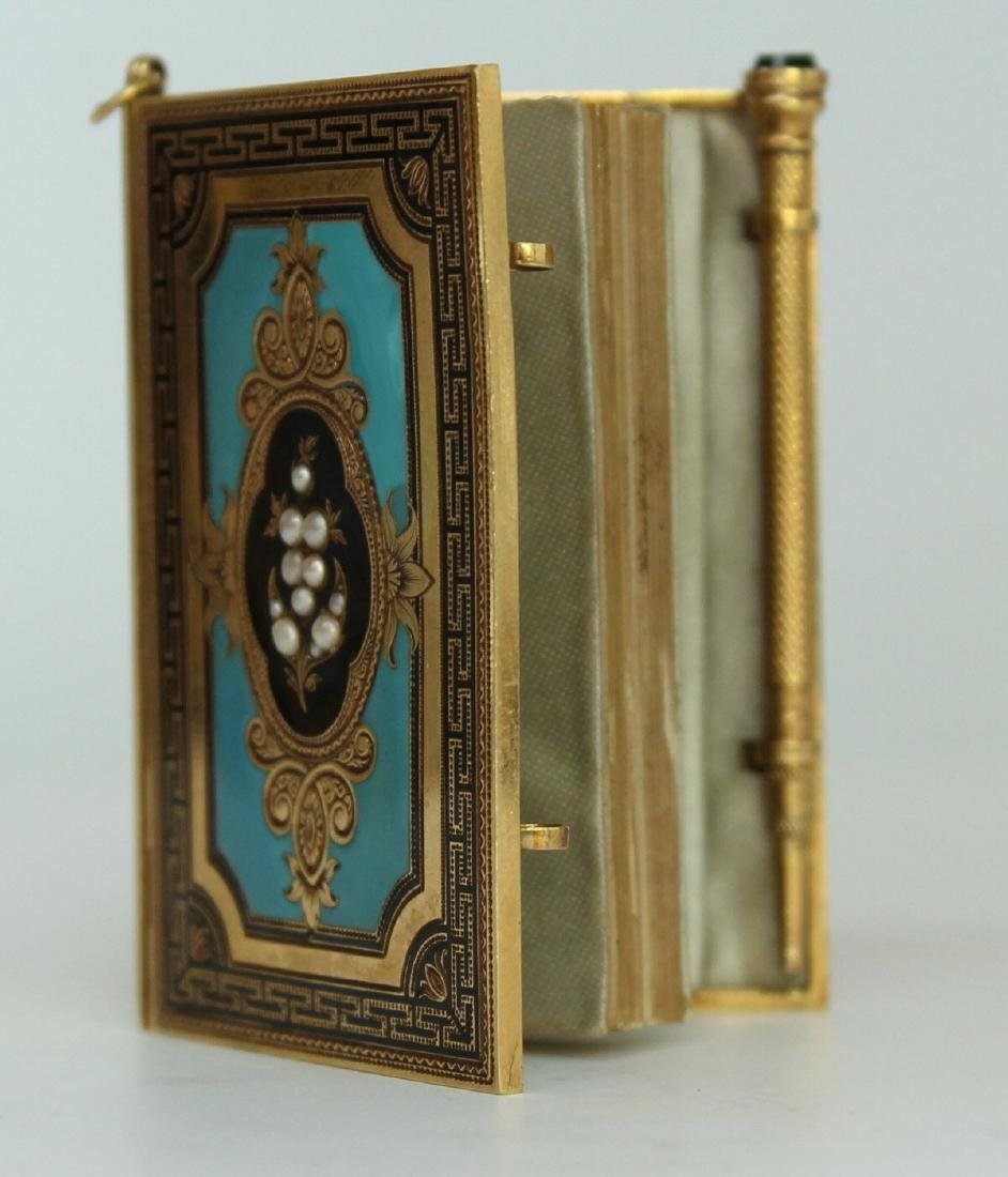 A French Gold and Enamel Carne - 7