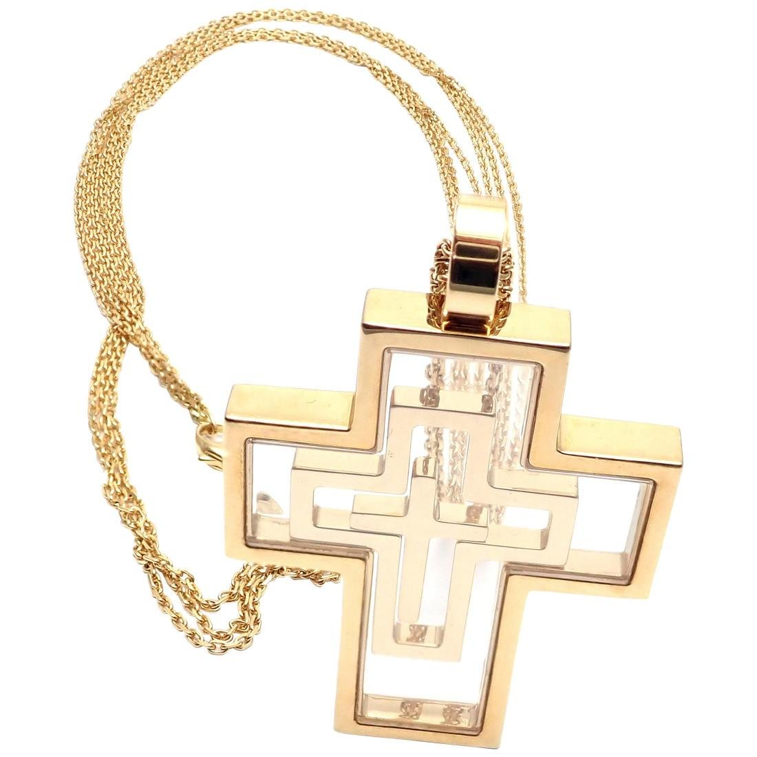 Chopard Cross Extra Large Yellow Gold Pendant Necklace