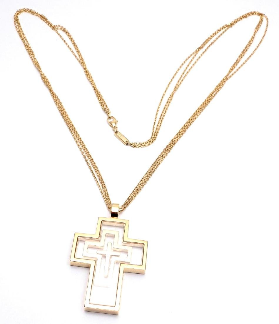 Chopard Cross Extra Large Yellow Gold Pendant Necklace - 2