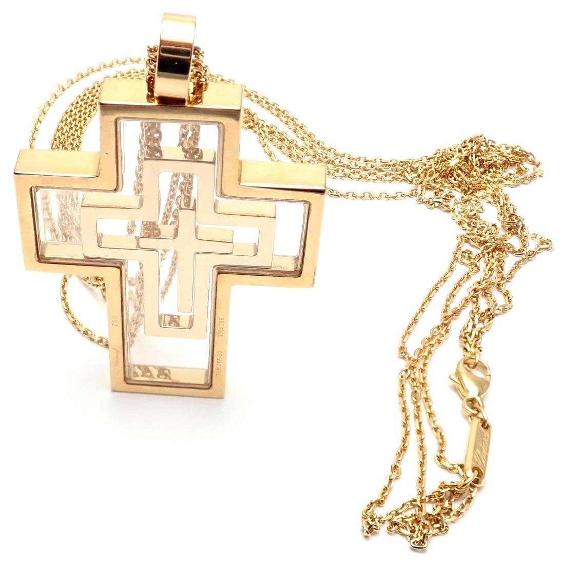 Chopard Cross Extra Large Yellow Gold Pendant Necklace - 5