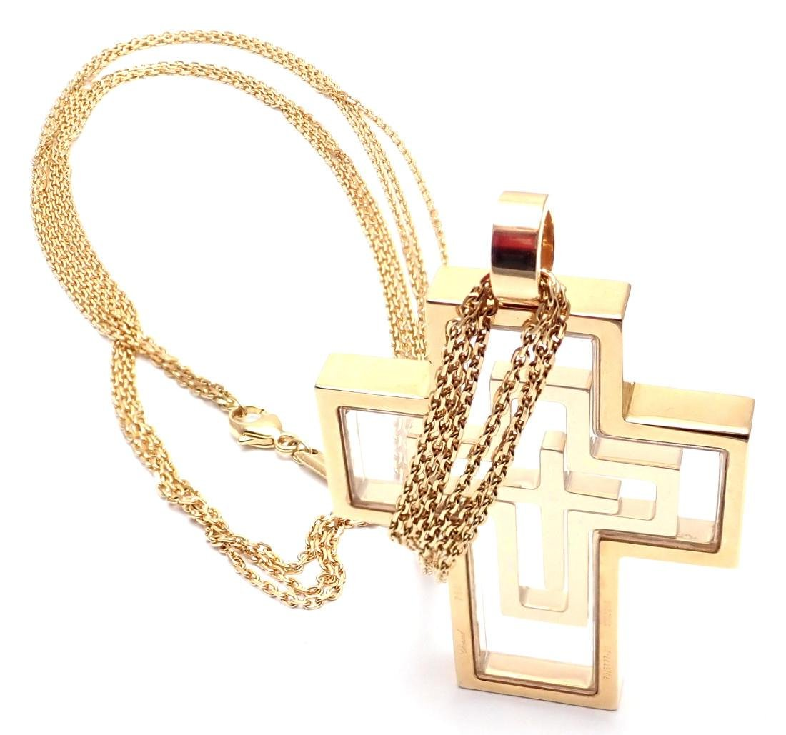 Chopard Cross Extra Large Yellow Gold Pendant Necklace - 7