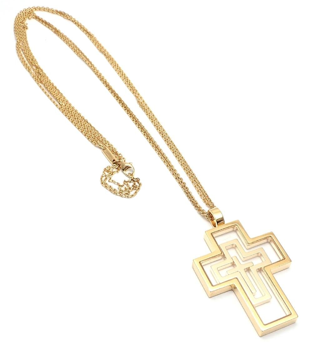Chopard Cross Extra Large Yellow Gold Pendant Necklace - 8