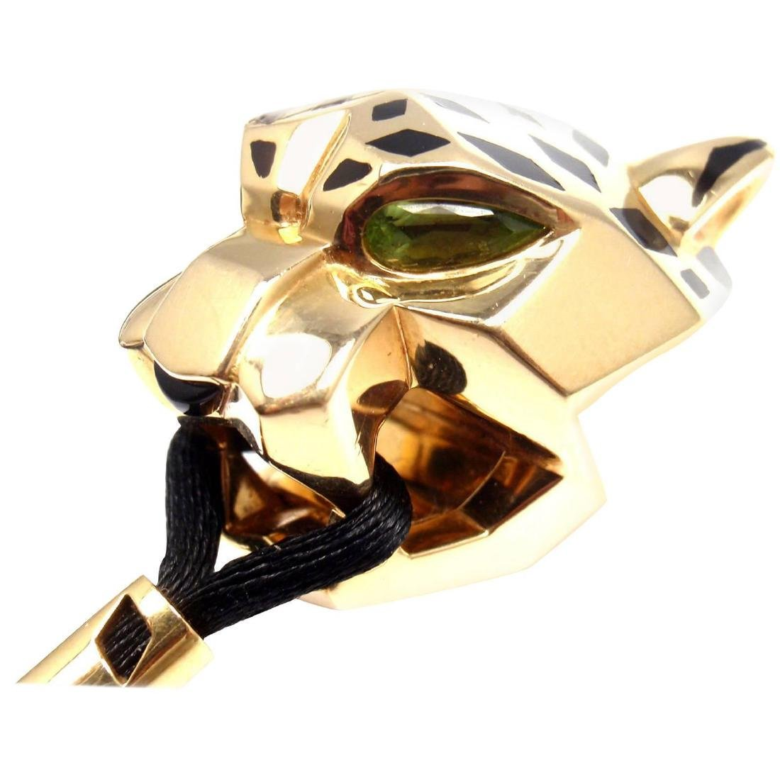 Cartier Panther Panthere Tsavorite Lacquer Cord Yellow