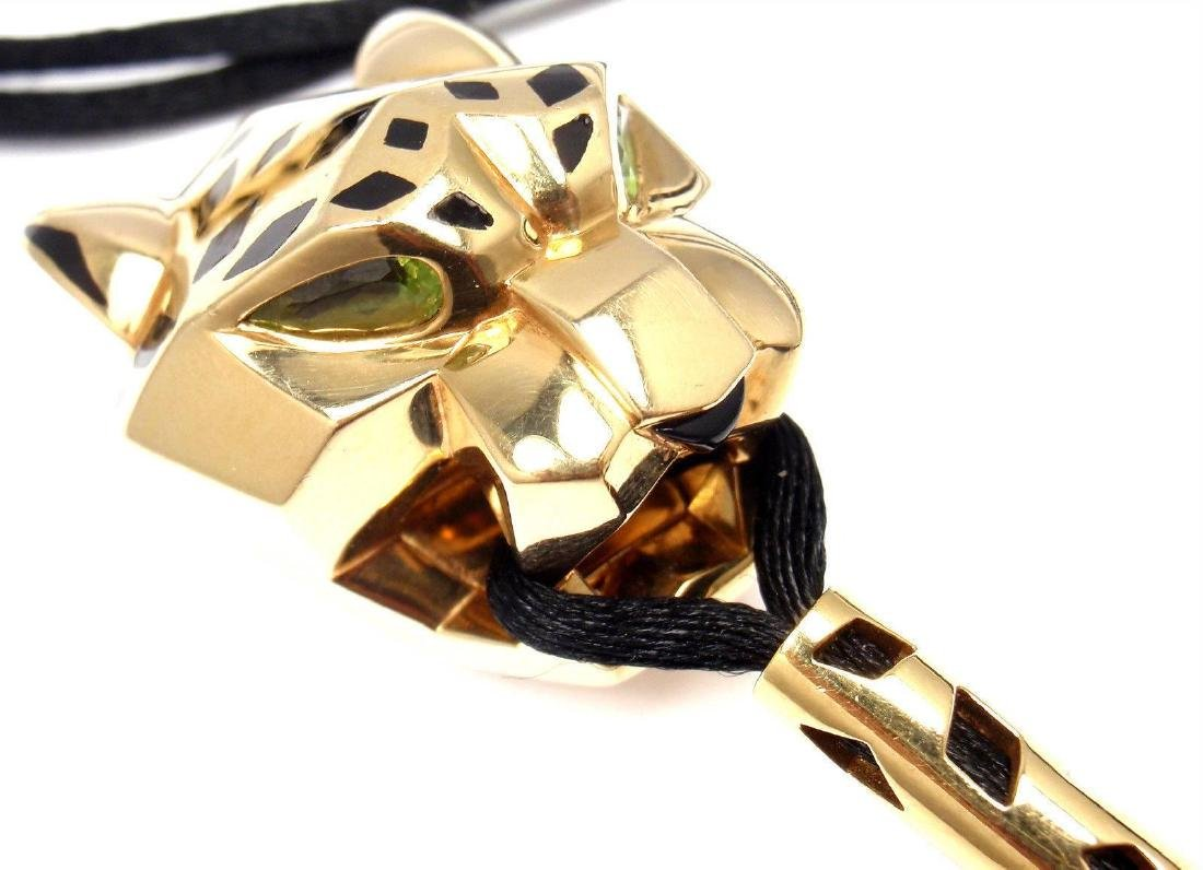 Cartier Panther Panthere Tsavorite Lacquer Cord Yellow - 7