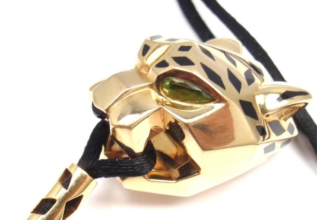 Cartier Panther Panthere Tsavorite Lacquer Cord Yellow - 8