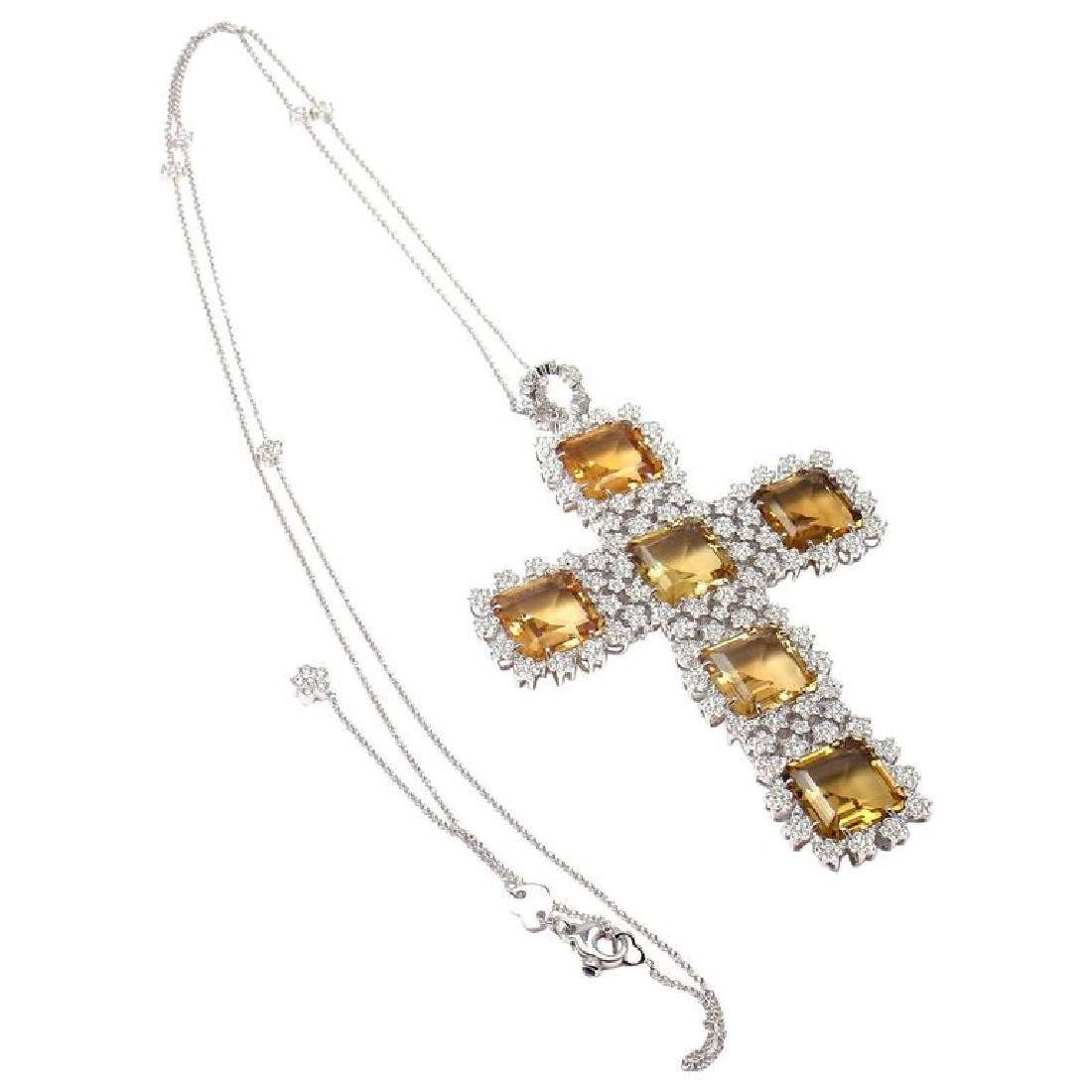 Pasquale Bruni Marilyn Citrine Diamond Gold Pendant
