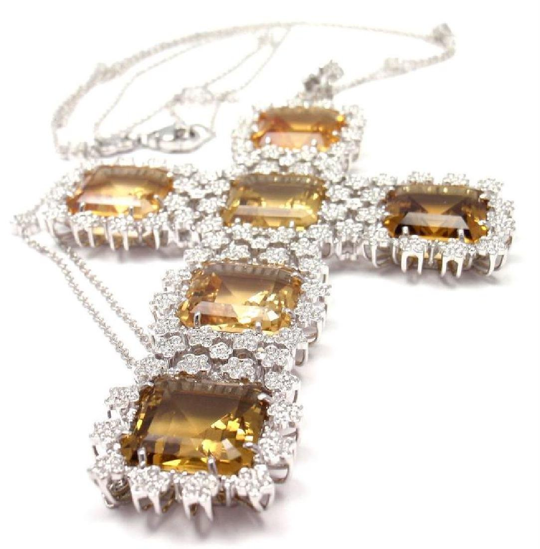 Pasquale Bruni Marilyn Citrine Diamond Gold Pendant - 5