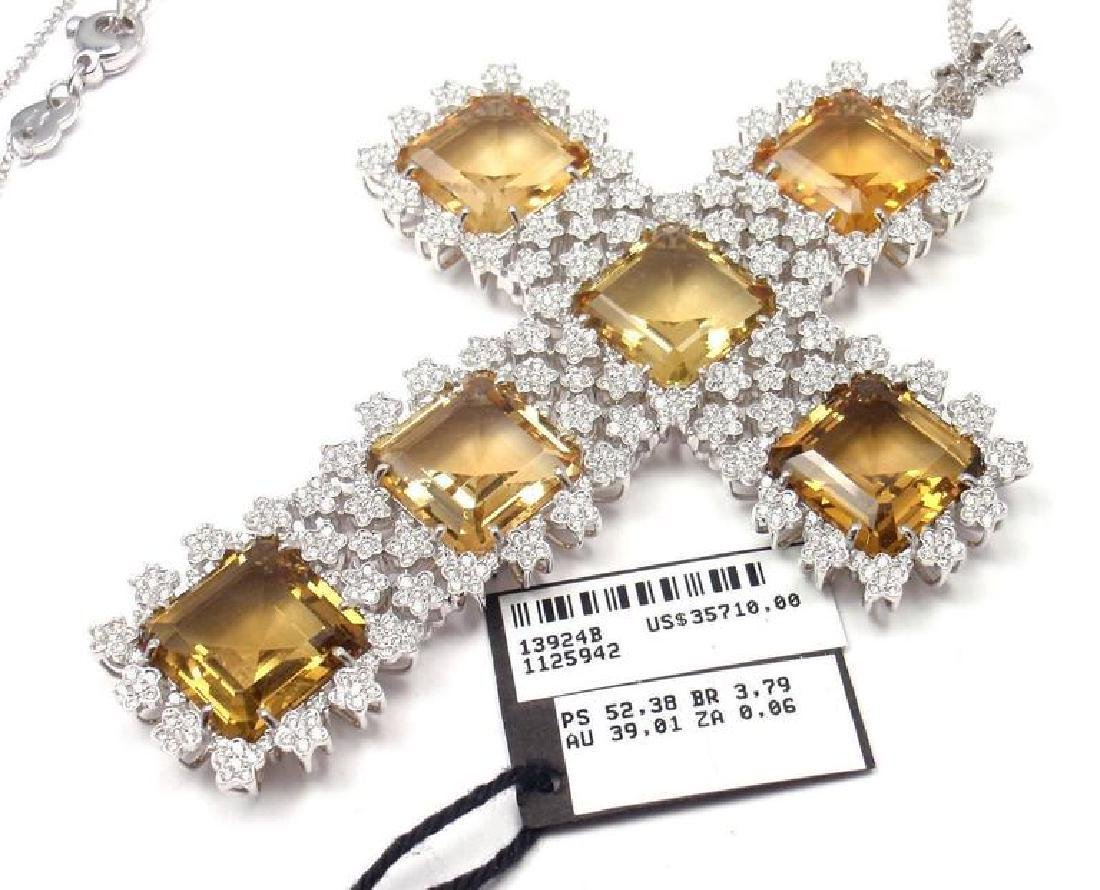 Pasquale Bruni Marilyn Citrine Diamond Gold Pendant - 6