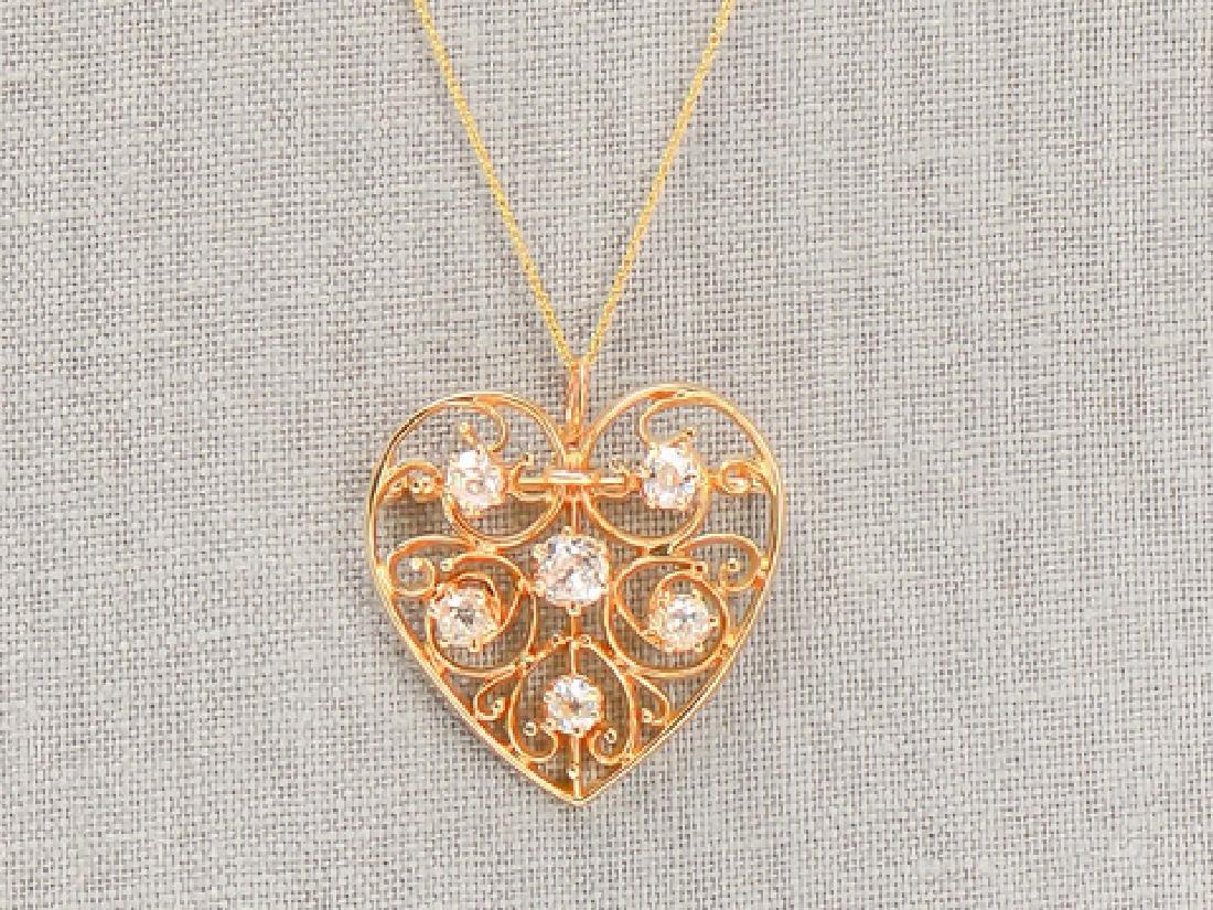 Heart of Mine - Edwardian Diamond Pendant - 2
