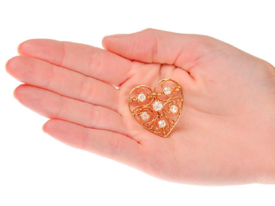 Heart of Mine - Edwardian Diamond Pendant - 3