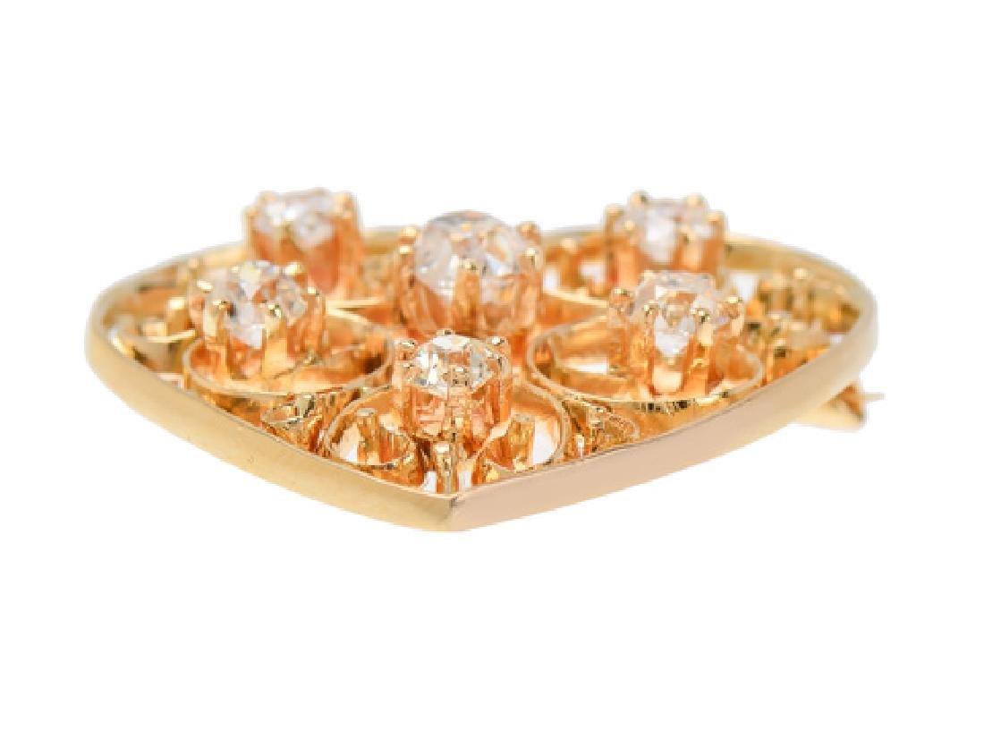Heart of Mine - Edwardian Diamond Pendant - 4