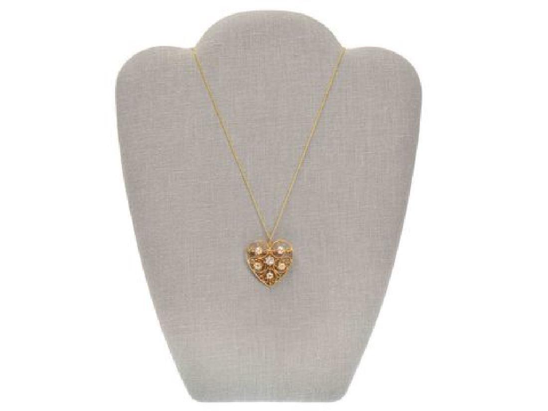 Heart of Mine - Edwardian Diamond Pendant - 5