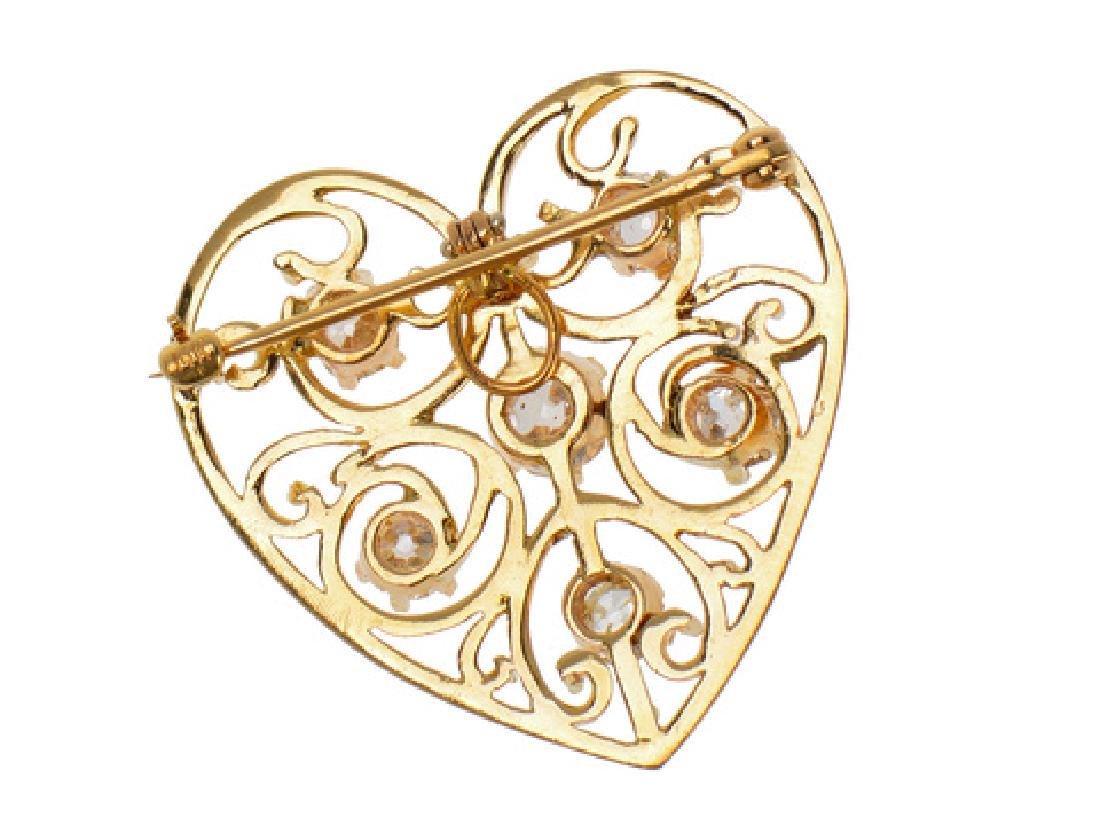 Heart of Mine - Edwardian Diamond Pendant - 6